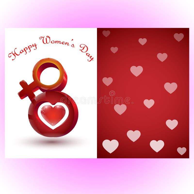 8 kobiet ` s Marcowy Międzynarodowy dzień obraz stock