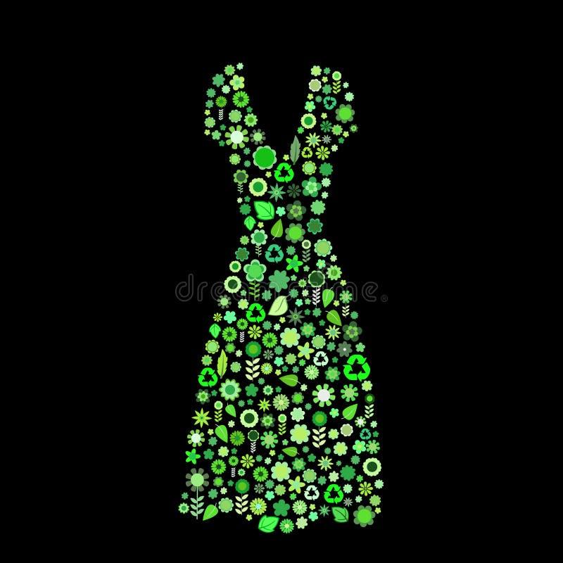 Kobiet sukni kształt ilustracja wektor