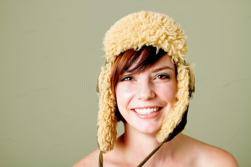 kobiet szczęśliwi kapeluszowi potomstwa zdjęcie royalty free