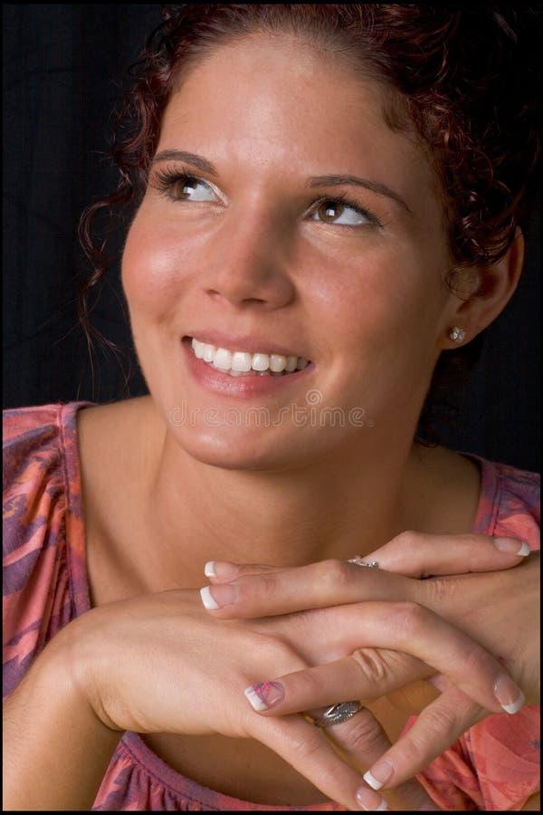 kobiet szczęśliwi uśmiechnięci potomstwa fotografia royalty free