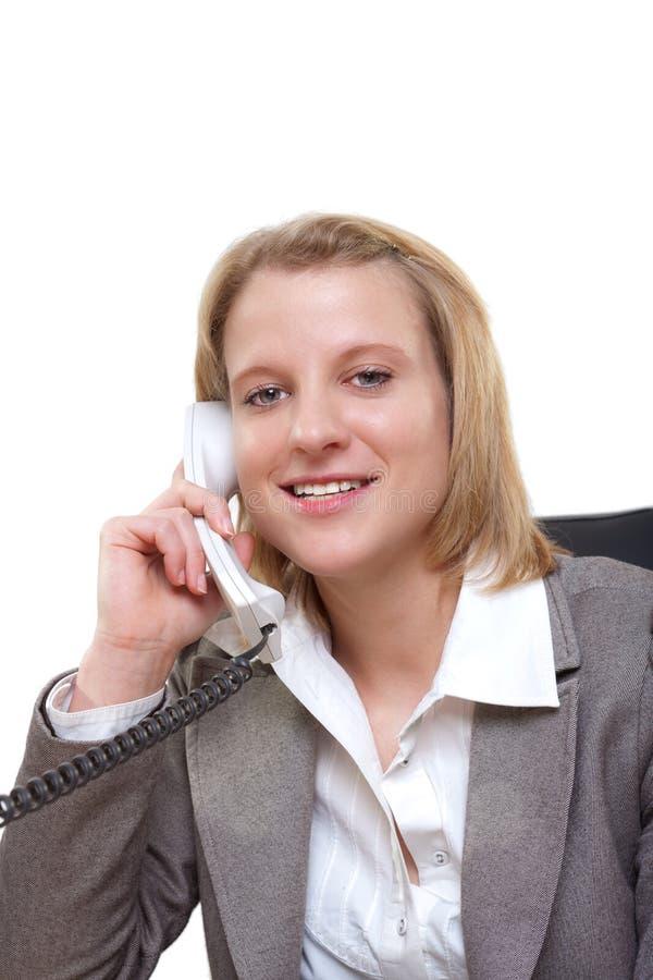 kobiet telefoniczni potomstwa zdjęcie royalty free
