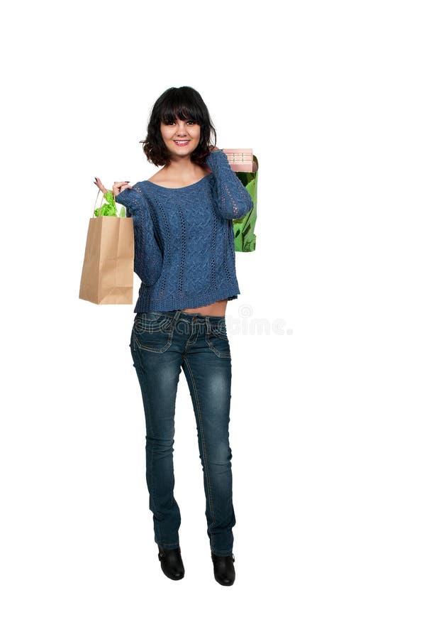 Kobiet torba na zakupy zdjęcia stock