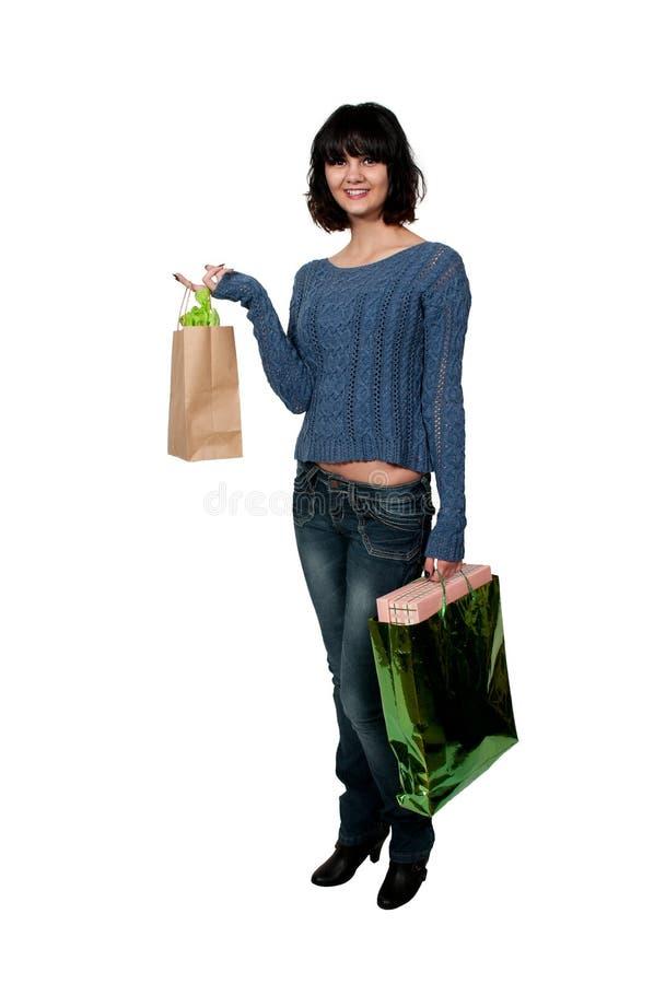 Kobiet torba na zakupy zdjęcia royalty free