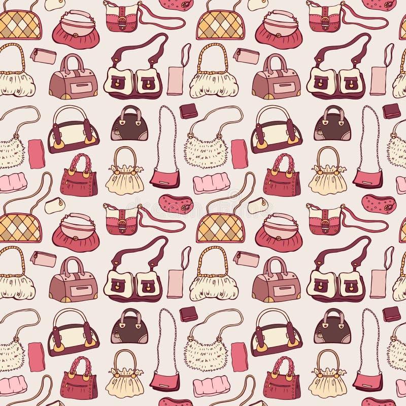 Kobiet torebki bezszwowy wzoru ilustracja wektor