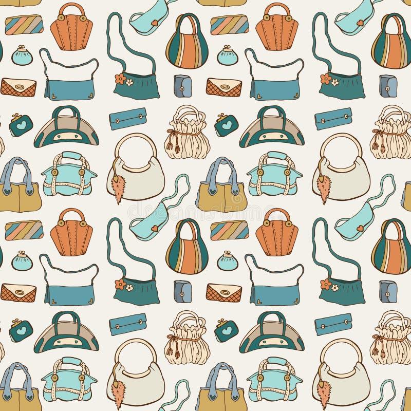 Kobiet torebki bezszwowy wzoru royalty ilustracja