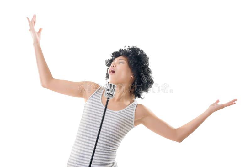 kobieta śpiewająca zdjęcie stock