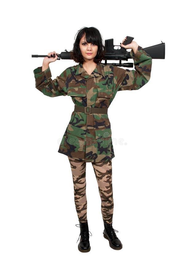 Kobieta żołnierz fotografia royalty free