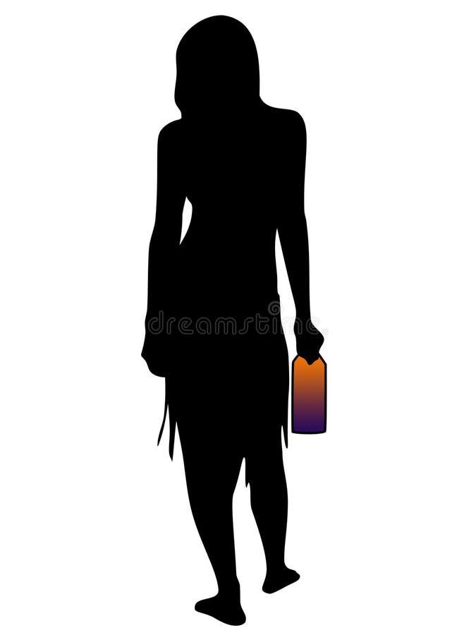 Download Kobieta ilustracji. Ilustracja złożonej z nude, kobieta - 133051
