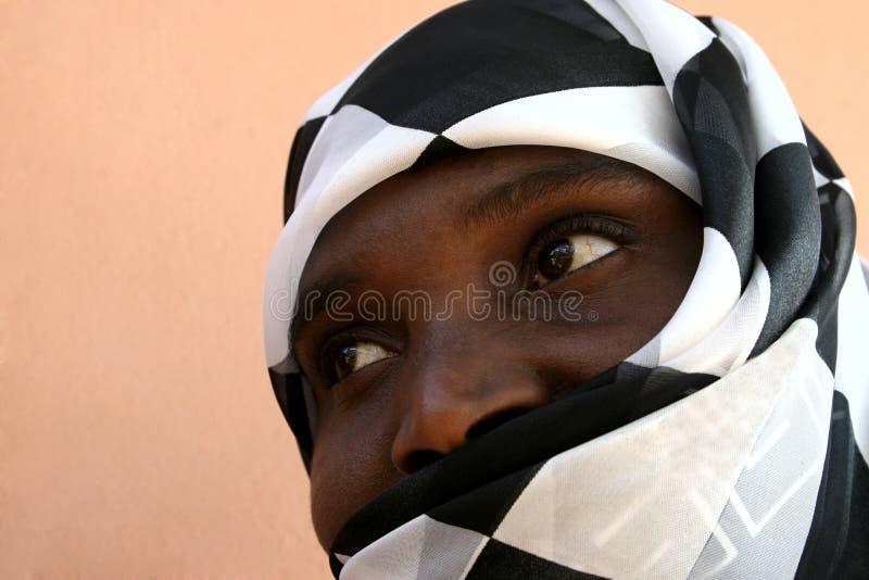 kobieta afrykańskiego muzułmańska fotografia royalty free