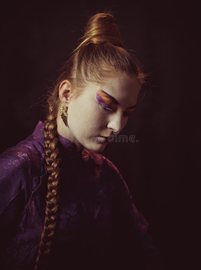 Kobieta artystyczny portret zdjęcia stock