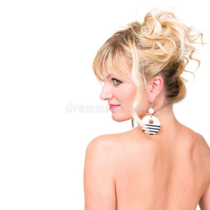Kobieta atrakcyjny profil zdjęcia stock