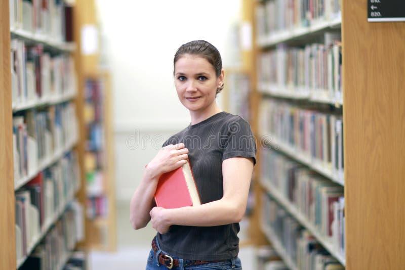 kobieta biblioteczna zdjęcia stock