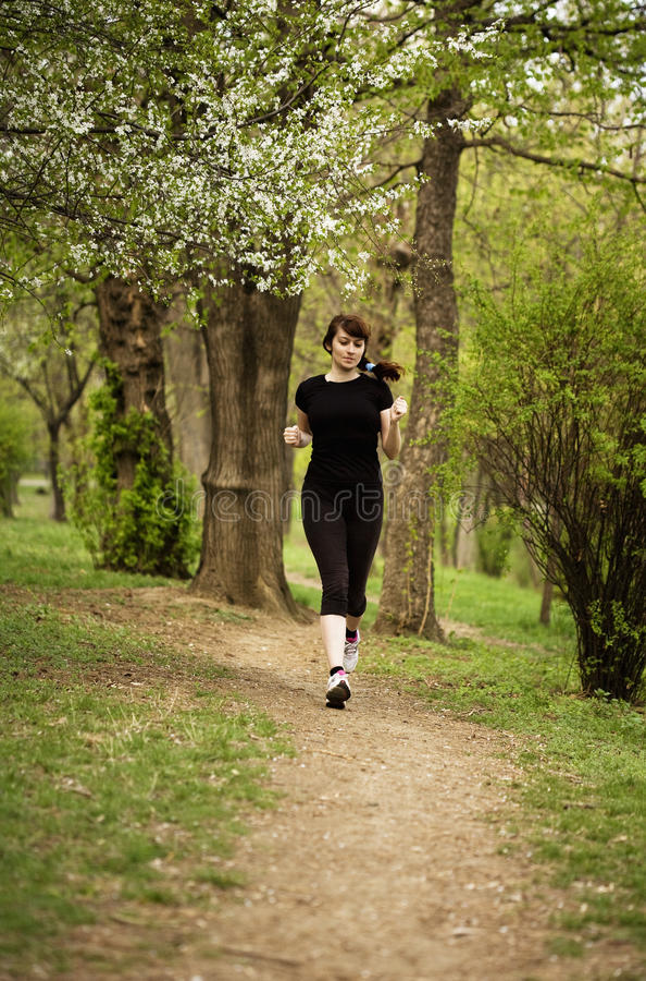 Kobieta bieg zdjęcie royalty free