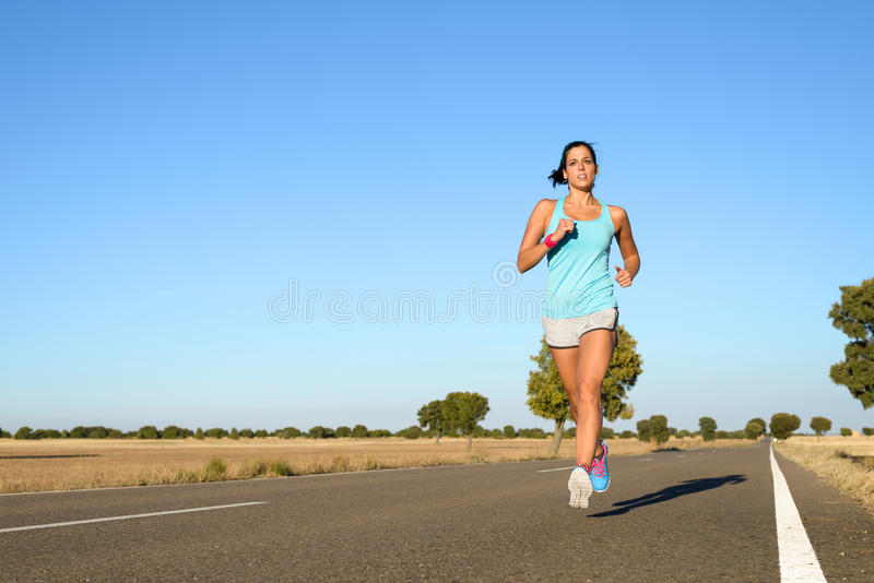 Kobieta bieg dla maratonu fotografia royalty free