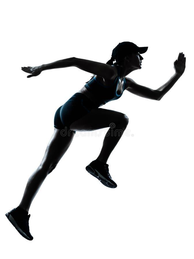 Kobieta biegaczów joggers sylwetki zdjęcia stock