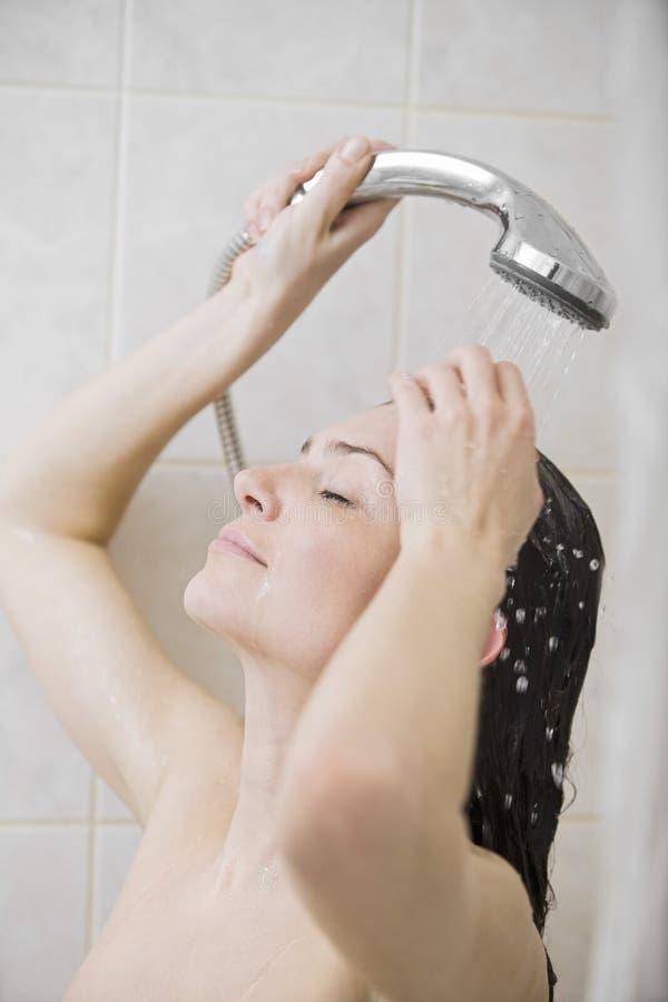 Kobieta Bierze prysznic obrazy royalty free
