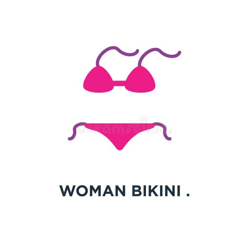 Kobieta bikini bielizny mody projekta ikona swimsuit pojęcie sy ilustracji