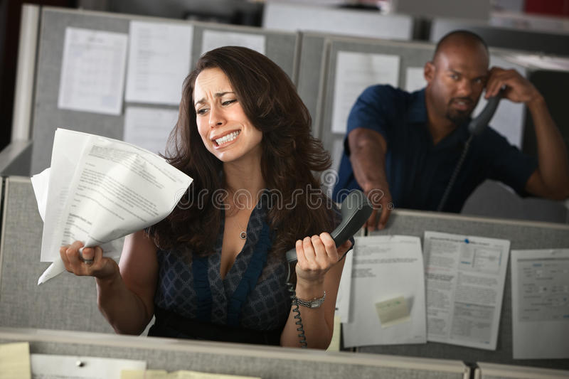 kobieta biurowy nieszczęśliwy pracownik obraz royalty free