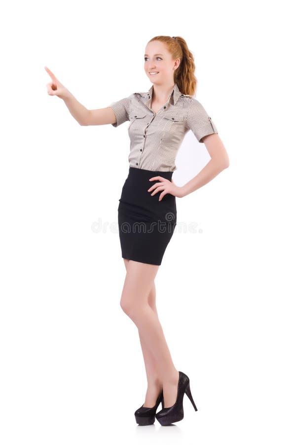 Kobieta bizneswoman odizolowywający zdjęcie royalty free
