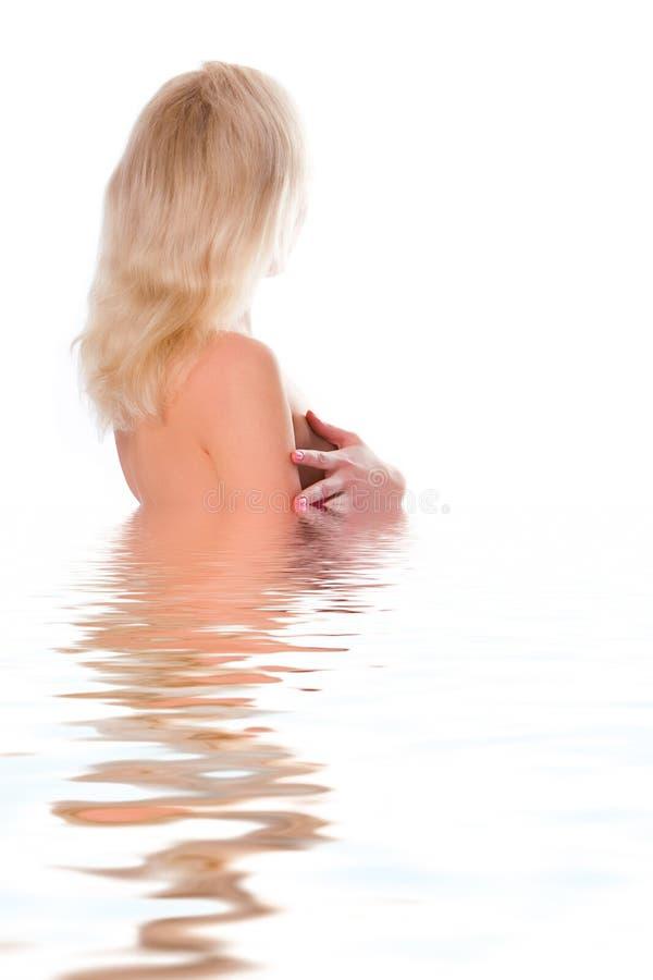 kobieta, blondynka ręcznik zdjęcia royalty free