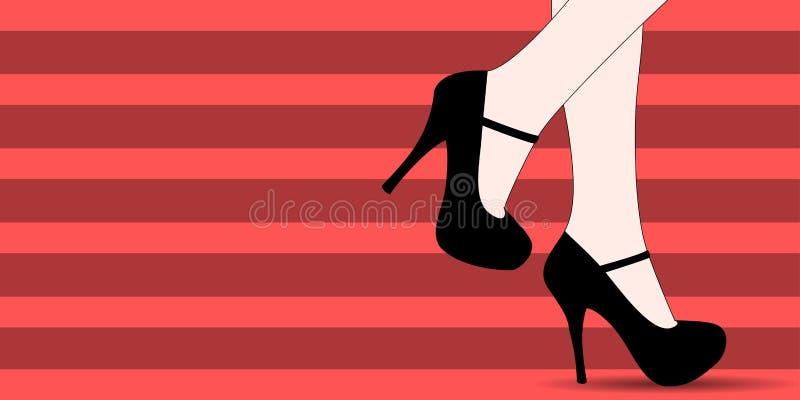 Kobieta butów mody sztandar ilustracji