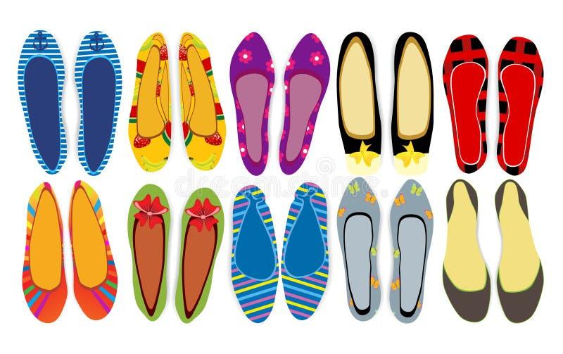 Kobieta buty royalty ilustracja