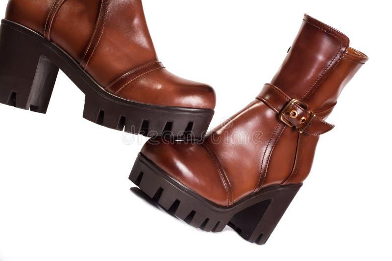 Kobieta buty Brown zdjęcie stock