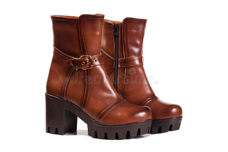 Kobieta buty Brown obrazy royalty free