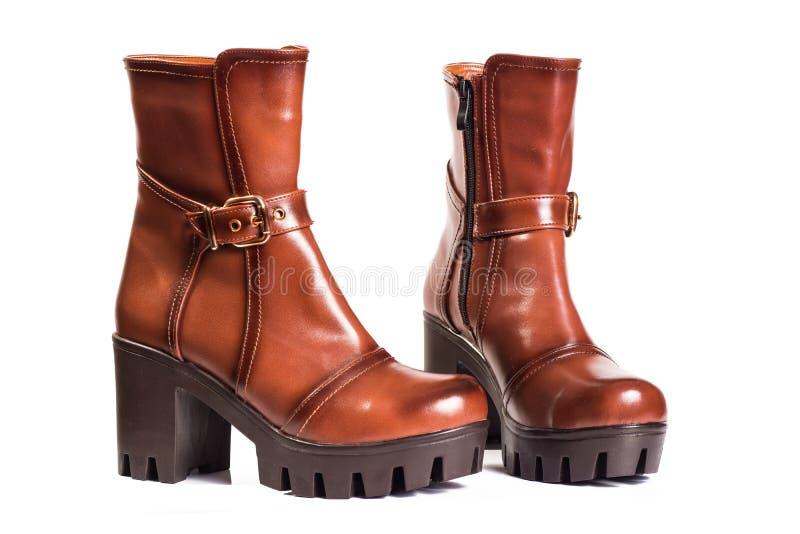 Kobieta buty Brown obraz stock