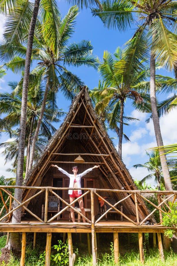 Kobieta być na wakacjach Kizimkazi Unguja Zanzibar wyspa Tanzania Afryka Wschodnia zdjęcia stock