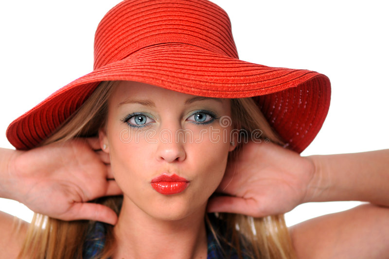 kobieta całuje zdjęcie royalty free