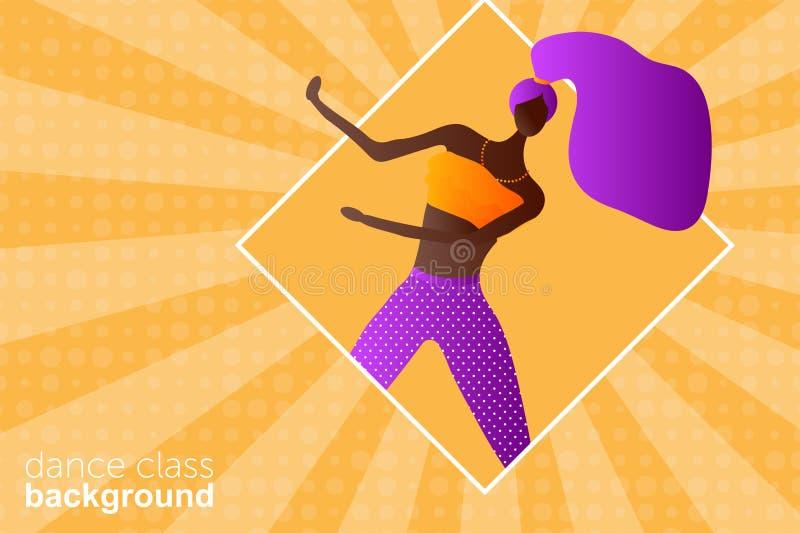 Kobieta charakteru taniec w nowo?ytnym mieszkanie stylu ilustracji