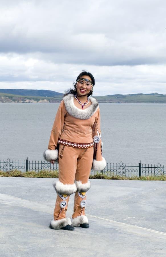 kobieta chukchi zdjęcie royalty free