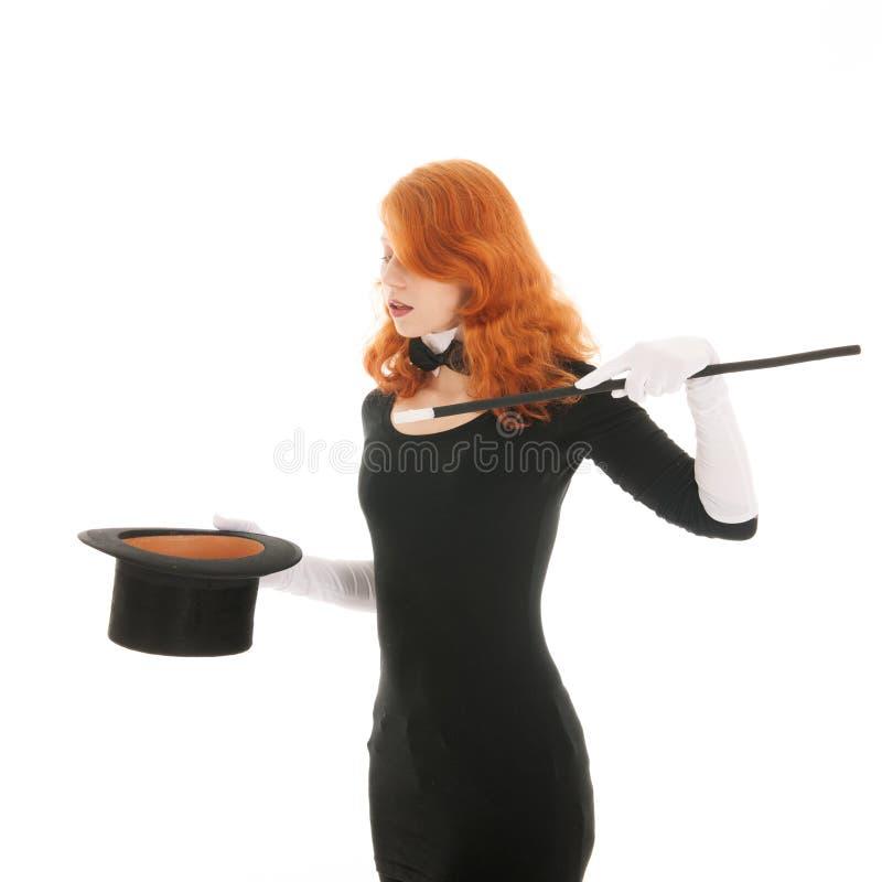 Kobieta czaruje z kapeluszem zdjęcia royalty free