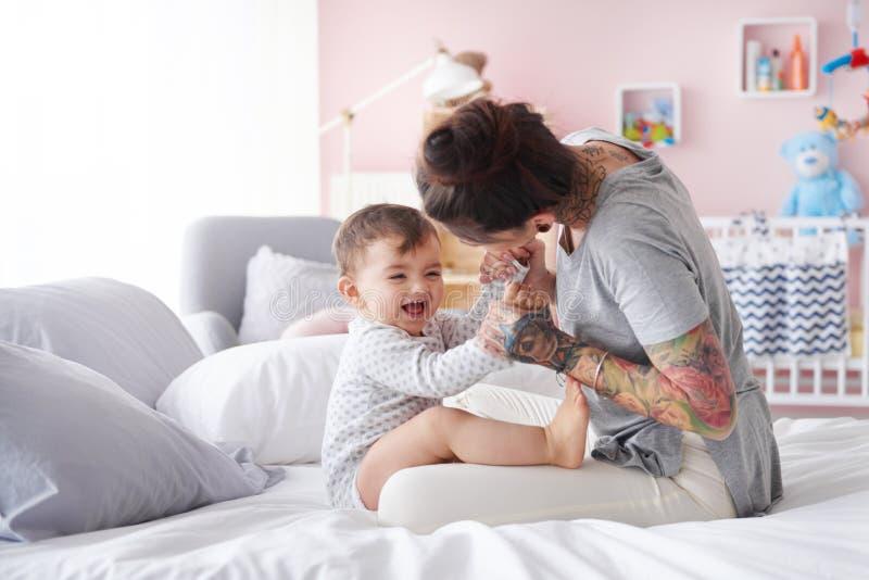 kobieta, dziecko zdjęcia royalty free