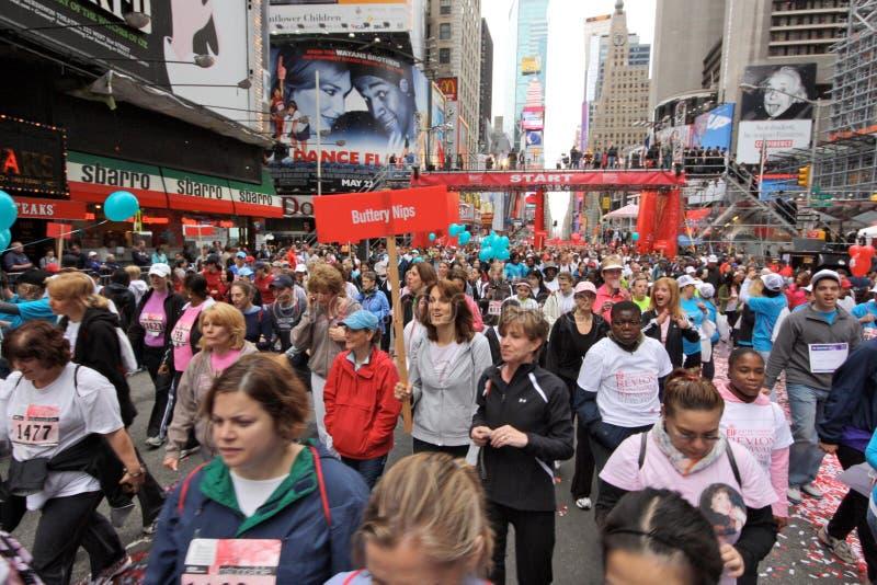 kobieta eif ny revlon bieg spaceru kobiety zdjęcie stock