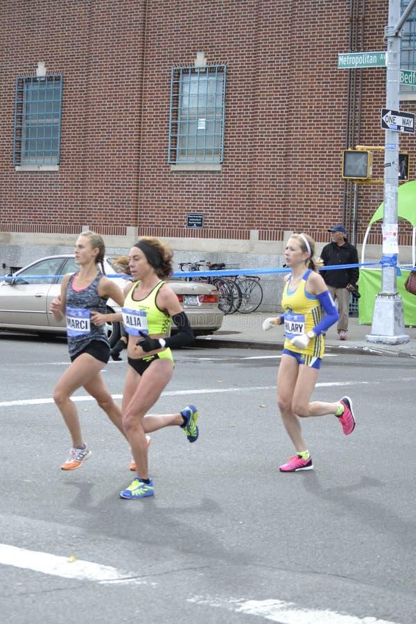 Kobieta elita biegaczów NYC maraton zdjęcia royalty free