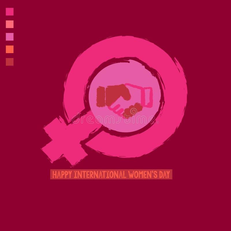 Kobieta feminizmu i znaka slogany royalty ilustracja