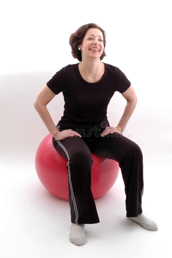 kobieta fizycznej balowa fitness obrazy stock