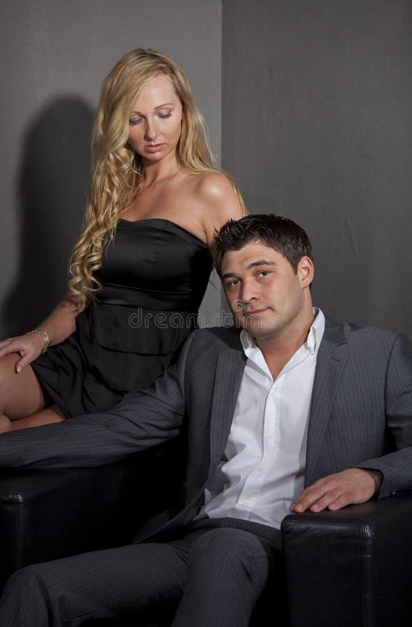 Kobieta Flirtuje z mężczyzna zdjęcie stock