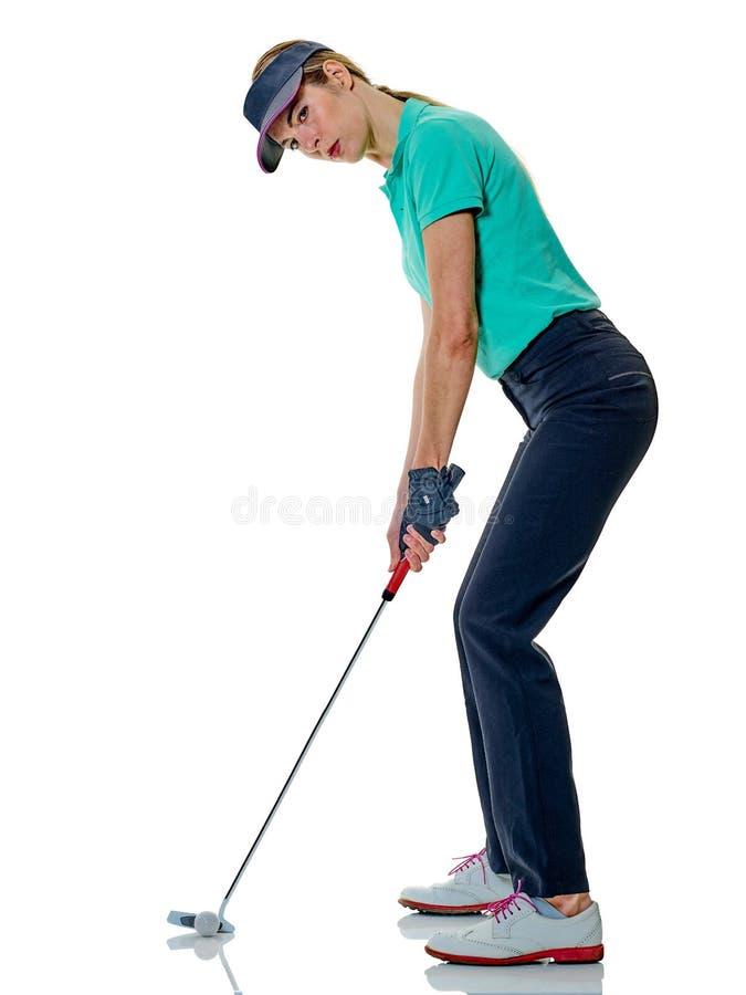 Kobieta golfisty grać w golfa obraz royalty free