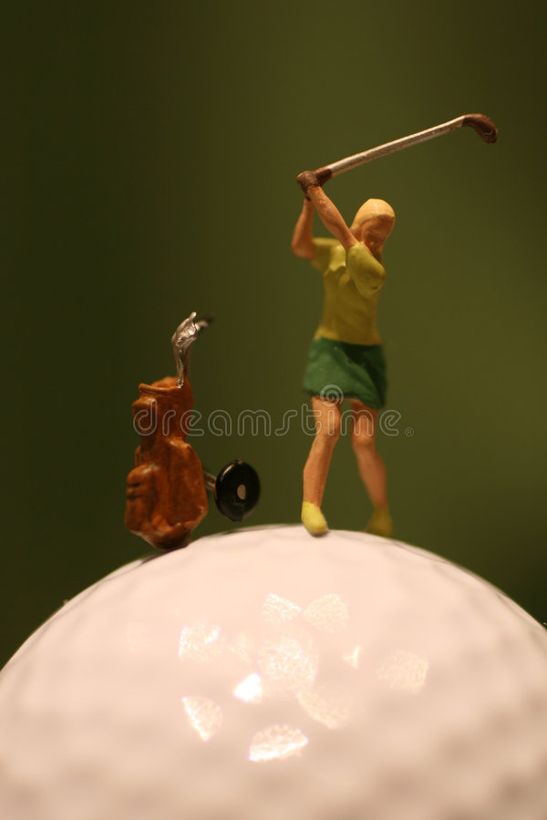 kobieta golfowa grać obrazy royalty free