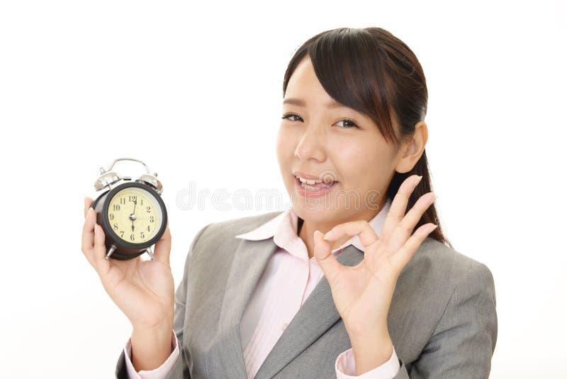 kobieta gospodarczej uśmiechnięta obraz stock
