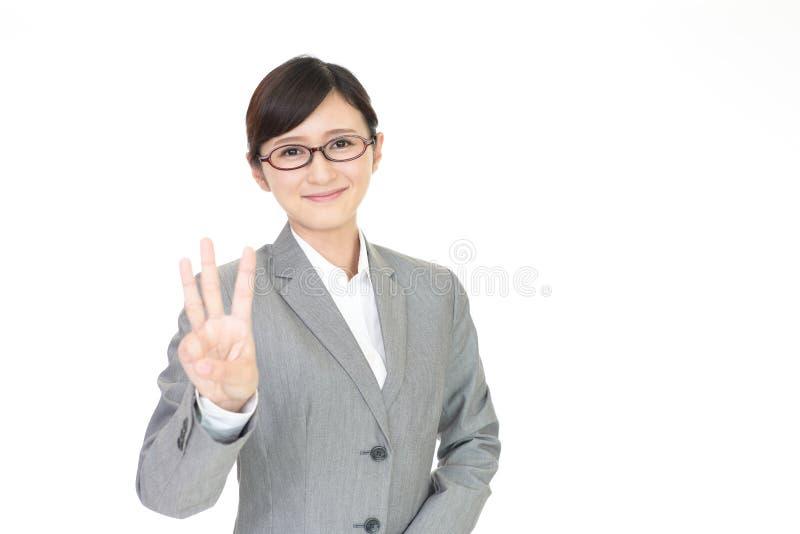 kobieta gospodarczej uśmiechnięta zdjęcia stock