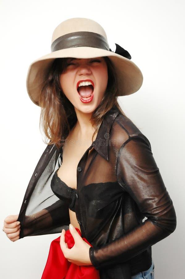 Download Kobieta hat obraz stock. Obraz złożonej z luring, bielizna - 140041