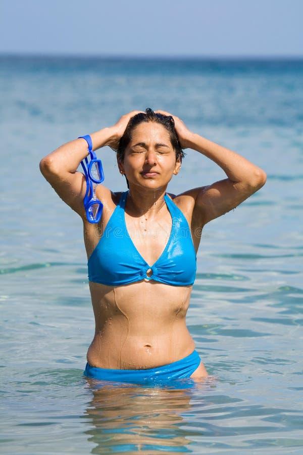 kobieta hindusa bikini obraz stock