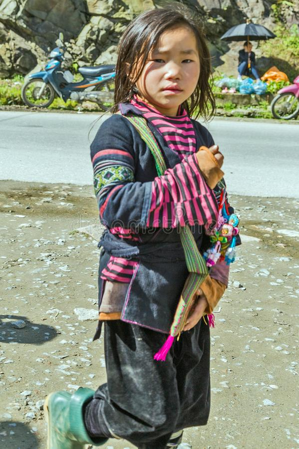 Kobieta Hmong Sapa, Lao Cai zdjęcie stock