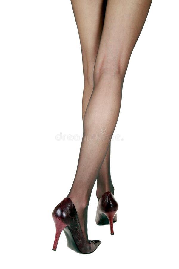 kobieta iść na piechotę pończochy zdjęcia stock