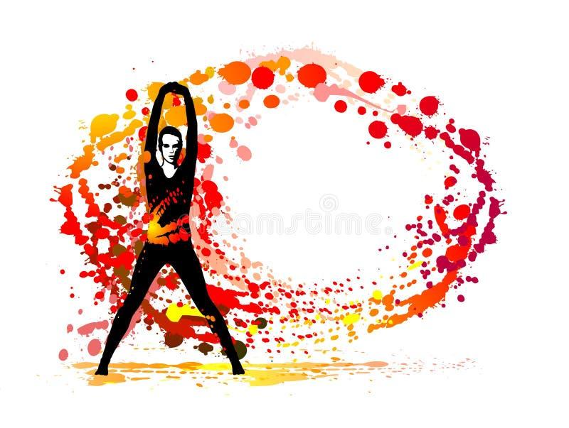Kobieta i farba ilustracji