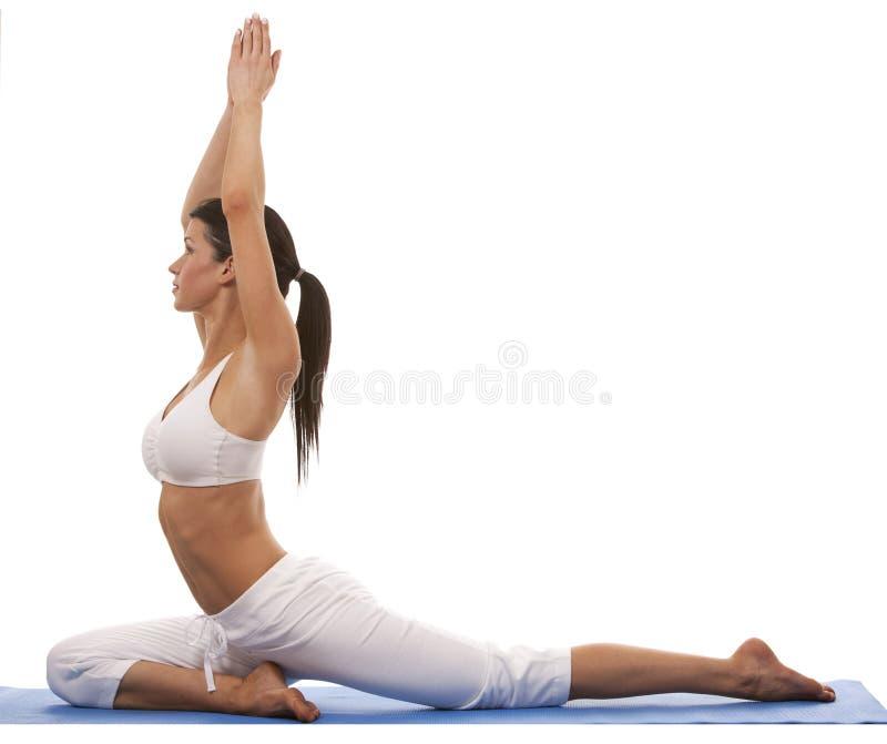 Kobieta i joga obrazy stock